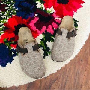 Birkenstock's Betula Light Brown Wool Clogs